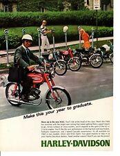 1968 HARLEY-DAVIDSON M-65 & M-65 SPORT  ~  CLASSIC ORIGINAL PRINT AD