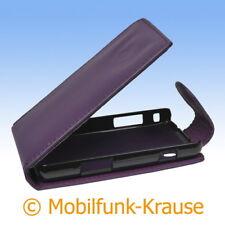 Flip Case Etui Handytasche Tasche Hülle f. Samsung Star 2 (Violett)
