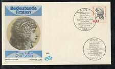 A 01 ) Germany: beautiful FDC 1992 -  Women of Germany: Charlotte von Stein (I)