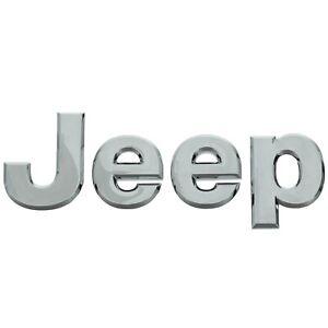 Jeep Wrangler Compass Patriot 3-D CHROME NAMEPLATE EMBLEM BADGE OEM NEW MOPAR