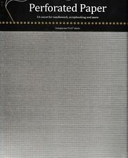 """MILL HILL 14CT  PERFORATED PAPER-2 sheets  22.5 X 30CM ( 9 X 12"""") WHITE"""