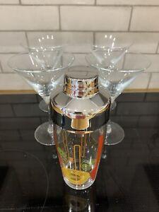 Luminarc 5-pc Cocktail Glasses & Shaker