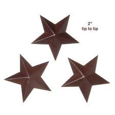 "12 Primitive Rusty Tin Look ~ 2"" Dimensional Barn Stars ~ Crafts"