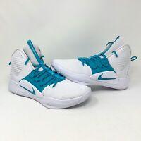Nike Hyperdunk X TB White/Turquoise Basketball Shoe (AT3866-116) Men's Size 11