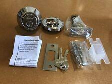 Single Cylinder Deadbolt - Chrome -Gainsborough 845 Deadlock