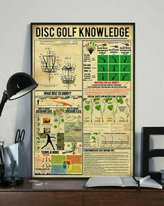 Disc Golf Knowledge Poster What Disc To Shoot Inch Living Print Vintage Gift Pos