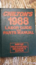 Chilton's Labor Guide & Parts Manual 1988