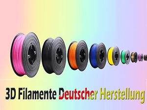 3D Drucker Filament 1kg PLA 1,75mm Rolle Spule Rolle Pen Stift Made in Germany