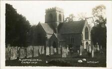 REAL PHOTO POSTCARD MINSTER LOVELL CHURCH NEAR WITNEY OXFORDSHIRE BY PERCY SIMMS