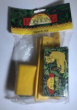 KidsCare Disney's The Lion King Travel Set (Toothbrush Holder, Soap Case, Brush)