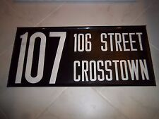 NEW YORK CITY NYC TRANSIT BUS ROLL SIGN COLLECTIBLE 106 STREET CROSSTOWN UPTOWN
