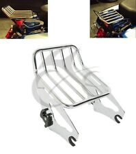 Detachable Two Up Luggage Rack For Harley Touring Road King FLHR FLHRC 2009-2017