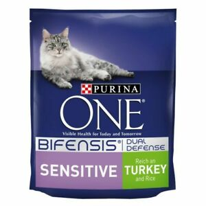 Purina ONE Sensitive Rich In Tasty Turkey and Rice Dry Cat Bulk Food *3KG PACK*