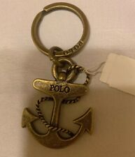 Polo Ralph Lauren Brass Anchor Sailor Keychain Key Fob