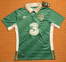 2016 Ireland, Eire, Home Shirt by Umbro, Mens Large, New