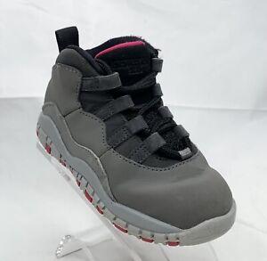Nike Air Jordan 10 Retro TD 'Dark Smoke Grey' 705416-006  Little Kids Size 7C