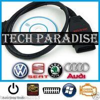 Interface Valise diagnostic VW HEX+K+CAN COM OBDII USB VAG 2013 Full Command