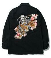 WACKO MARIA x TIM LEHI FATIGUE JACKET Black Size-M New from Japan F/S