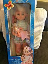"""Vintage JANE & JENNY 19"""" Doll And 6"""" Baby ROCKING MOTION Musical Lullaby in Box"""
