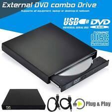 External CD RW DVD ROM CD Rewriter DVD Drive Burner Player For Netbook PC Laptop