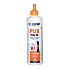 Kleiberit D4 Pur Klebstoff 501, 0,5 kg Flasche, wasserfester Pur Klebstoff