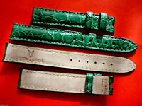 1 bracelet cuir vert UNIVERSAL GENEVE 15 mm montre vintage or strap band watch