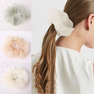 5PCS Chiffon Scrunchies Elastic Hair Rings Ponytail Holder Hair Rope Hair Decors
