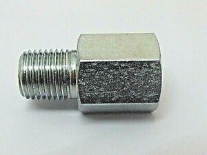 NPT Male x NPT Female Zinc Coated Steel Hydraulic Extension Adaptors 4,000 Psi