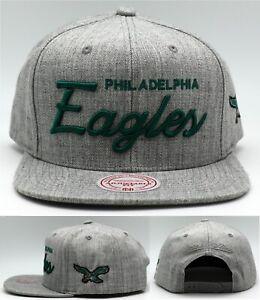 Philadelphia Eagles New Mitchell & Ness Script Gray Green Era Snapback Hat Cap