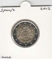 Spanje 2 euro 2012 UNC : 10 Jaar Euro munt