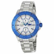 Brand New! Invicta 14059 Mens Pro Diver Silver Dial Blue Bezel Quartz Watch