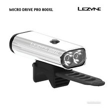 NEW Lezyne MICRO DRIVE PRO 800XL USB Rechargeable Bicycle Headlight : SILVER