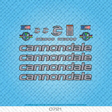 Cannondale RT3000 Bicycle Decals - Transfers - Stickers - Silver - Set 0721