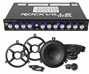 """ALPINE SPV-65X-WRA 6.5"""" Speakers+7-Band EQ for 2007-2018 Jeep Wrangler JK"""