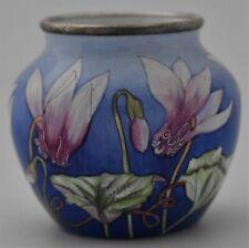 Lovely Moorcroft Pottery Enamels Vase (Flowers / Floral Design)