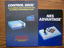 REGULAR NINTENDO CONTROL DECK,ZAPPER,POWERPAD & NES ADVANTAGE BOOKS ITEM #51