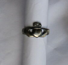 FEDE IRLANDESE °CLADDAGH°  IN ARGENTO Brunito 925 MILLESIMI
