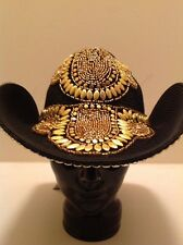 """Western Cowgirl """"Whittall & Shon"""" Black With Gold Studs & Beads! Very Stunning!!"""