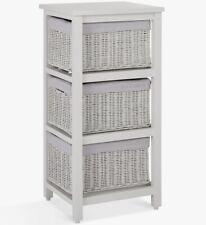 John Lewis 3 Drawer Rattan Storage Unit - Grey B+