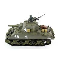 Radio Control 2.4GHZ HENG LONG SHERMAN M4A3 HOWITZER BB SMOKE SOUND Battle Tank