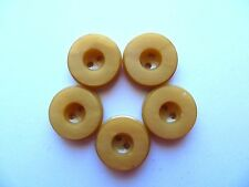 1950s Vintage Sm Carved Butterscotch Yellow Bakelite Jacket Dress Buttons-19mm