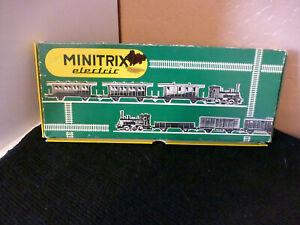 VINTAGE MINITRIX ELECTRIC TRAIN SET  N SCALE MADE W. GERMANY NOS!!