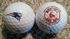 2 Logo Golf Balls - New England Patriots - Boston Red Sox