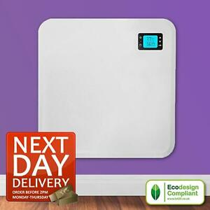 400W SLIM WALL MOUNTED ELECTRIC BATHROOM PANEL RADIATOR HEATER WITH TIMER