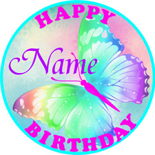 BUTTERFLY PERSONALISED BIRTHDAY BADGE PARTY BAG FILLER