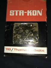 BOX OF 100   Sta-Kon A18-250T Male Tabs  22-18 AWG Non Insulated Disconnects