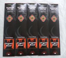 Gonesh Incense Dragon's Blood: 5 Packs of 20 Sticks = 100 Stick (Dragons)