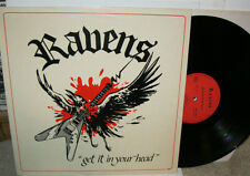 RAVENS GET IT IN YOUR HEAD PRIVATE FRENCH METAL 1984 RARE HARD ROCK LP VG+/VG+