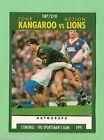 1991 KANGAROOS V LIONS RUGBY LEAGUE CARD #187 TACKLING