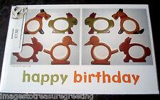 New BIRTHDAY CARD w original image of vintage bakelite napkin rings